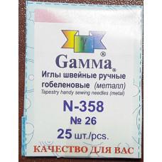Иглы Гамма №26 гобеленовые, 25 шт., арт. N-358