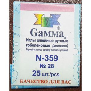 Иглы Гамма №28 гобеленовые, 25 шт., арт. N-359