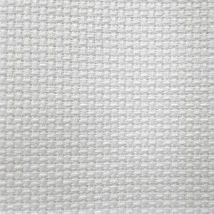 Канва Аида 14 белая (Zweigart 3706/100, Aida 14 white)