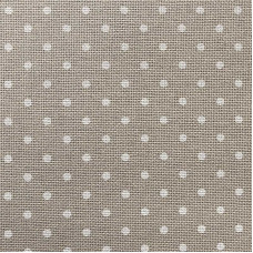 Канва Мурано 32 темно-бежевая в горошек (Zweigart 3984/7309, Murano 32 beige, dots)